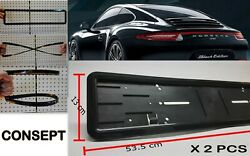 Car License Plate Holder Tuning Parts 2 Pcs Consept Brand With 8 Screws