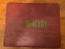 1954 Mercury Dealers Color And Upholsteries
