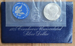 1974 1 Eisenhower 40 Silver Dollar Uncirculated Mint Cello - Buy More And Save