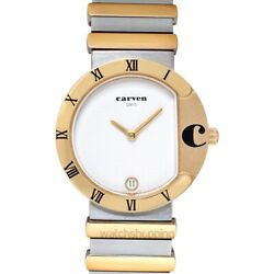 Carven 38-128t-0001 White Dial Ladyand039s Watch Genuine Freesandh