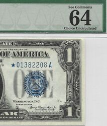 1934 1 Star ⭐️ Silver Certificate, Pmg Choice Uncirculated 64 Epq Banknote