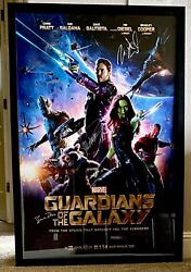 Autographed Guardians Of The Galaxy Movie Poster Framed