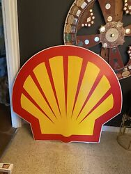 Shell Gas Station Sign 4.5ft X 5ft