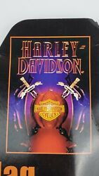 Harley Davidson Halloween Pumpkin Large House Flag 30'' X 43'' New In Package