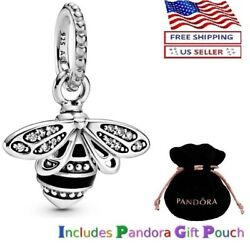 New Authentic Pandora Sterling Silver S925 Ale Sparkling Queen Bee Pendant Charm