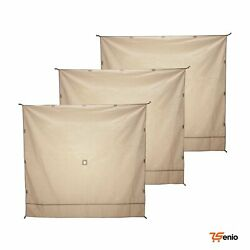 Gazelle Wind Panel Accessory For Portable Canopy Gazebo Screen Tents 3 Pack - Rs