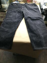 Man Jeans 550 48x30 Black Relaxed Fit Tapered Red Tab Cotton Denim