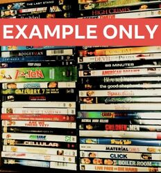 Lot Of 25 Used Dvd Movies - 25 Bulk Dvds - Used Dvds Wholesale Lot ⭐️with Case