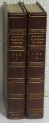 The Poetical Works Of John Milton,ed.by Bradshaw 2 Vol.set Complete 1899 Leather