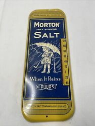 Vintage Morton Free Running Salt Thermometer When It Rains It Pours. Great Con