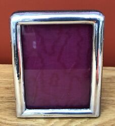 Edwardian Solid Silver Photograph Frame, Hm. B.ham 1908, 16.5cm In Height