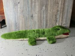 Large Vintage Stuffed Alligator Plush Toy Polly Henry Mt Top Toys