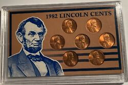 1982 Lincoln Cents 8 Varieties 12519 Coins Nicer Than Usually Encountered.