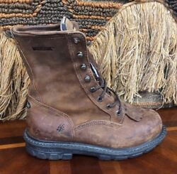 Wolverine Mens 9 M 04448 Boots Brown Leather Used Condition