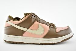 Nike Dunk Low Pro Sb Stussy Cherry Vanilla Shy Pink Lace Up Skate Sneakers 10