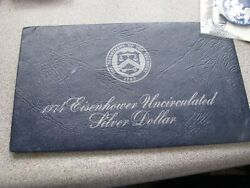 1974 Eisenhower Uncirculated Silver Dollar Blue Pack With Mint Envelope And Coa