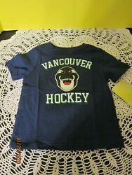 Nhl Vancouver Canucks Hockey Kids T-shirt Baby Toddler Tee Blue Size 2t Nwt