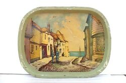 Serving Tin Tray Printed Old Vintage Home Decor Collectible Christmas Gifts E-99