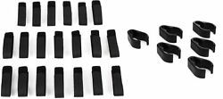 Windtech Cc-6 Mic Stand Cable Clips - 6 Pack + Hosa Wti-148g-20 8 Cable Wraps