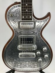 Used Zemaitis A24mf Silver Electric Guitar Free Shipping