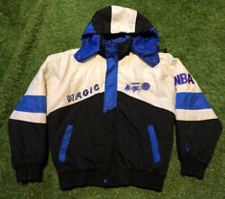 Vintage Pro Player Orlando Magic Nba All Over Print Spell Out Jacket Mens S Coat