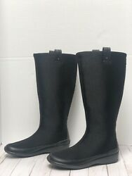Aetrex Berries Tall Black Pull On Stretch Comfort Boots Nice Pair Women's 7