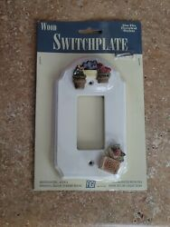 Vintage Figi Wood Switch Plate Cover New Hand Painted