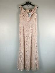Women's Quiz Embroidered Lace Bardot Dress, Size 12 - Nude Pink
