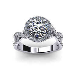 Solid 950 Platinum 0.96 Ct Real Diamond Wedding Ring Size 6 8 For Christmas Sale