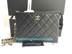 Auth Bnib Small Charms Wristlet 19 Pouch Clutch On A Chain Wallet Woc Bag