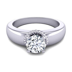 Solitaire 0.50 Ct Real Diamond Women Wedding Ring Solid 950 Platinum Size 7 8 9