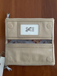 NWT Hobo International Bi Fold Taylor Wallet Clutch Parchment Leather RP $118 $74.95