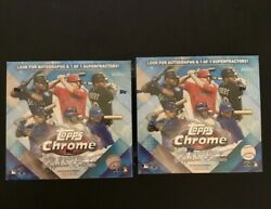 2020 Topps Chrome Update Sapphire Edition Two Boxes Sealed In Hand