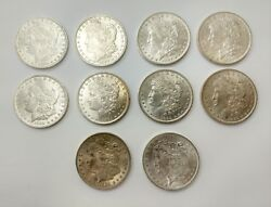 Lot Of 10 1884 O Morgan Silver Dollar Coin 1 Nice Detail / Luster New Orleans