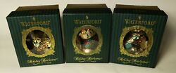 Waterford Holiday Heirlooms Ornament Lot Of 3 Carousel Horse Christmas Stocking
