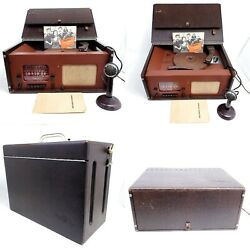 For Repair Tube Radio Packard Bell Phonocord Record Cutter Recorder Player Lathe