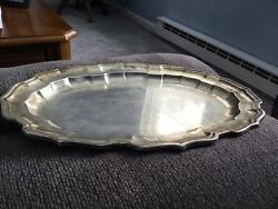 Vintage Chippendale By Frank Smith Sterling 15andrdquo X 11andrdquo Tray 201