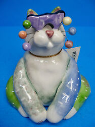 Amy Lacombe Annaco Creations Whimsiclay Cat Wearing Sunglasses 5 Wc001 2001