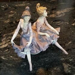 Lladro Rare 5370 Can Can Dancing Girls Fine Porcelain Perfect Cond. 13 Tall