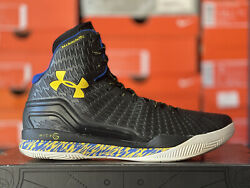 UNDER ARMOUR CLUTCHFIT DRIVE CURRY 2014 SZ 11 BLACK WHITE YELLOW 1246931 008 PE $159.99