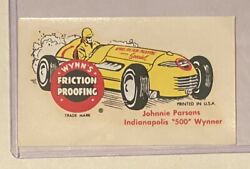 Vintage Original Wynnand039s Friction Proofing Decal Johnnie Parsons Indy Winner