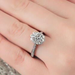 1.00 Ct Real Round Diamond Engagement Ring For Women Solid 950 Platinum Size 6 8
