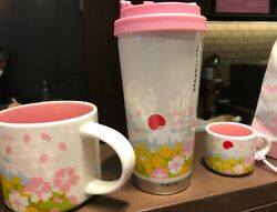 Japan Set Of 3 Starbucks You Are Here Collection Sakura Cherry Blossoms