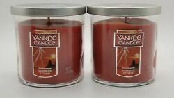 Yankee Candle SUMMER STORM SCENT 7oz Small Tumbler Candles Set of 2 NEW TAGS