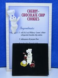 Willabeeandward Pillsbury Doughboy Cherry-chocolate Chip Cookies Pin And Recipe Card