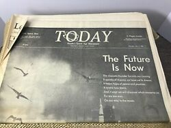 Rare July 17 1969 Today Space Age Complete Newspaper Apollo The Future Is Now