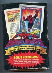 D196 1990 Marvel Universe Series 1 Box Sealed From Case Great Condition