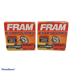 Lot Of 2 Fram Extra Guard Oil Filters Ph6607 New