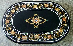 36 X 48 Inches Marble Kitchen Table Top Pietra Dura Art Dining Table Home Decor