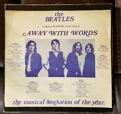 The Beatles – The Beatles Away With Words Triple Lp Set. Kingston Records.